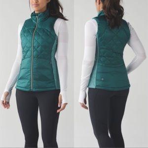 Lululemon Down for a Run vest teal 4